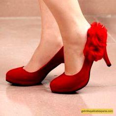 Kırmızı Gelin Ayakkabısı Modelleri 2017