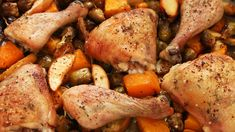 Roast Chicken with Apples, Butternut Squash & Brussels Sprouts