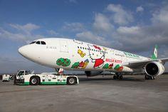 Hello Kitty Airplane by Everair, Taiwan キティが機体や機内にも:アメリカに9月就航する「キティちゃんの飛行機」