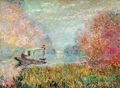 Claude Monet - The boat studio on the Seine