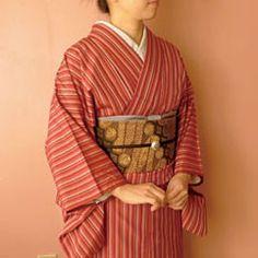 Batik sash on Japanese traditional kimono