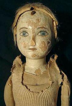 19th Century Folk Art Prairie Doll 2.