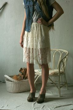Knee lace skirts by DGstyle on Etsy, $60.00