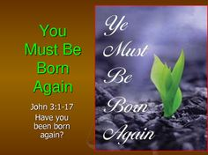 Jesus answered and said unto him Verily verily I say unto thee Except a man be born again he cannot see the kingdom of God. [John 3:3]