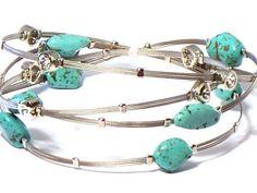Whispers Bracelet, Wire Bracelet, Designer Inspired with Rhinestones & Turqoise Stones by Hail Mary Gifts, http://www.amazon.com/dp/B007SHCHW2/ref=cm_sw_r_pi_dp_VdbQpb0J6DA46