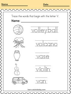 Printable Tracing Alphabet Letters Handwriting Worksheets #PrintableTracing tracing alphabet letters #kids tracing #tracingletter #tracinglettersworksheets #tracinglettersactivities #worksheet #printable #education #letter Printable Handwriting Worksheets, Letter Tracing Worksheets, Tracing Letters, Alphabet Letters, Verbal Cues, Letter V, Connect The Dots, Phonics, Teaching Kids