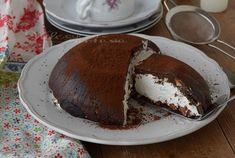 Zuccotto di biscotti con panna e cacao ricetta facile