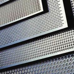 four main kinds of perforated sheets with round holes, square holes, round end or square end slot holes