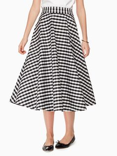 a8efd2c949 gingham circle skirt by kate spade. White Skater SkirtMidi Flare SkirtMidi  SkirtsGingham ...