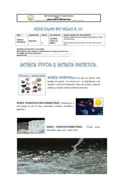 INSTITUCION EDUCATIVA PABLO NERUDA                                                  SEDE: ____                            ... Pablo Neruda, Science, Education, History, Animals, Earth Science, Human Body Bones, Historia, Animales