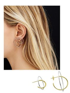 Boucles d'oreilles d'été: les néo créoles en or de Charlotte Chesnais