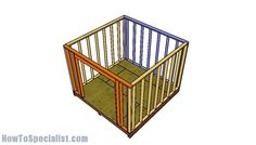 10x10 Shed Plans - DIY Step by Step | HowToSpecialist - How to Build, Step by Step DIY Plans 10x10 Shed Plans, Diy Shed Plans, Barn Plans, Wood Plans, Shed Frame, Storage Shed Kits, Tool Storage, Build Your Own Shed, Small Sheds