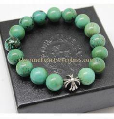 c2fd70e9c77 Chrome Hearts Green And Silver Bead Bracelet  Green And Silver Bead Bracelet   -  201.99