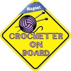 purple crocheter on board