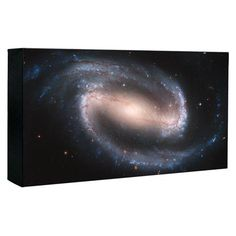 Hubble Image Canvas Print: Barred Spiral Galaxy