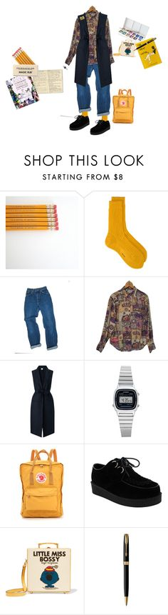 """""""I felt inspired today"""" by okay-aliya on Polyvore featuring Moleskine, Religion Clothing, EAST, Casio, Fjällräven, Olympia Le-Tan, Parker and Valley Cruise Press"""