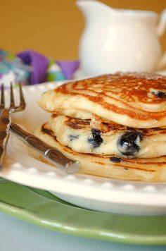 my go-to pancake recipe - SO good, easy & make the batter @ night to make it quick in the morning!