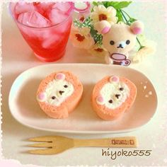 Korilakkuma Swiss roll, strawberry'n cheese flavour