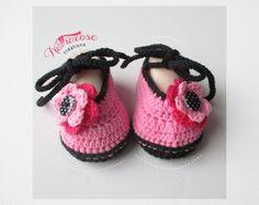 Chaussons ballerines roses en coton mélangé : Mode Bébé par natharose