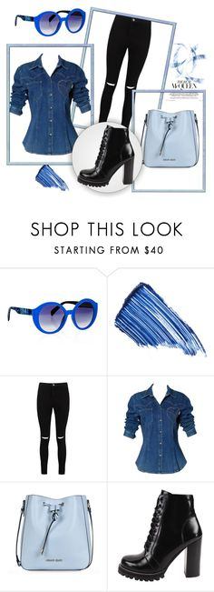 """"""":)"""" by jasko4511 ❤ liked on Polyvore featuring Italia Independent, By Terry, Boohoo, Moschino, Armani Jeans and Jeffrey Campbell"""