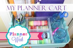 IKEA Raskog planner cart ~ love this color and small size! Scrapbook Organization, Office Supply Organization, Planner Organization, 2015 Planner, Happy Planner, Planner Ideas, Cool Office Supplies, Planner Supplies, Craft Supplies