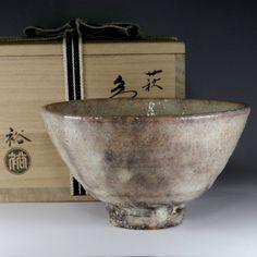 CHAWAN Japanese Hagi Pottery Tea Bowl w Box by Ura Yutaka #2276 - ChanoYu online…