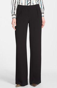 Halogen® Pleat Front Wide Leg Pants (Regular & Petite) | Nordstrom