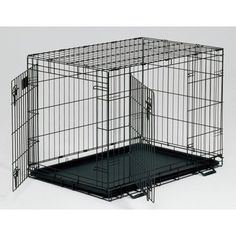 Midwest Life Stages Double-Door Folding Metal Dog Crate, 36 Inches by 24 Inches by 27 Inches $61.10