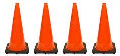 """4 PCS Traffic Cones Deal (28"""" HT)"""