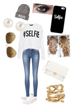 """""""selfie"""" by superfabulouzz ❤ liked on Polyvore featuring Converse, French Connection, Witchery, Henri Bendel, Ray-Ban and Spring Street"""