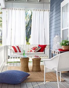 Easy Porch Makeover A few small (and affordable) solutions can turn a bare front gallery into a full-fledged outdoor room.