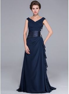 Mother of the Bride Dresses - $124.99 - A-Line/Princess Off-the-Shoulder Sweep Train Chiffon Charmeuse Mother of the Bride Dress With Ruffle Beading  http://www.dressfirst.com/A-Line-Princess-Off-The-Shoulder-Sweep-Train-Chiffon-Charmeuse-Mother-Of-The-Bride-Dress-With-Ruffle-Beading-017026072-g26072