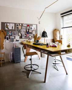 25 Creative Workspace Ideas - Inspiration for designing a creative home office, studio or craft room.