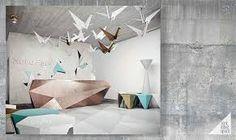 """Résultat de recherche d'images pour """"origami design interior"""""""