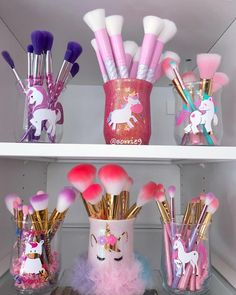 Some of my pretty Unicorn holders and makeup brushes ✨ #Unicorn #Unicorns #UnicornHolders #UnicornBrushes #Love #UnicornMakeupBrushes #UnicornMakeupBrushHolders #BeautyRoom #GlamRoom #GirlyAccount #GirlyAccount #GirlyThings #GirlyStuff