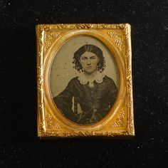 1850s Antique 1/9 Ambrotype Photo Portrait Young Woman with Head Covering in Collectibles, Photographic Images, Vintage & Antique (Pre-1940), Ambrotypes | eBay