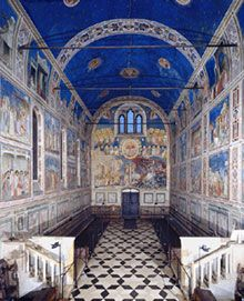 Scrovengi Chapel, Padova, Italy. I loved Giotto's blue color that he used for this chapel.