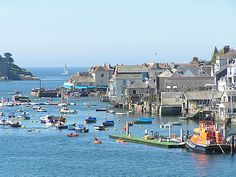 The town of Fowey located on the South Coast (Eastern Section) of the Cornwall Area of Outstanding Natural Beauty.