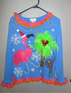 tropical ugly christmas sweater