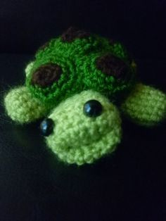 Amigurami tortoise with removable shell by IckleCrochet on Etsy, £5.00