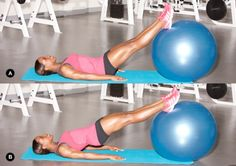 Pilates ball+ legs workouts #Fitness #Diet