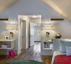 Bright attic remodel