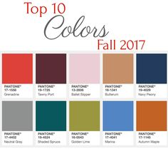 Here are the Top 10 Colors Fall 2017. These colors will not only be seen in fashion but also in home decor. They are beautiful!