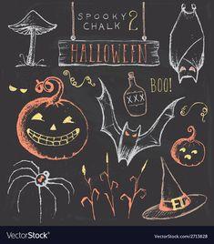 Unique Haloween Chalk Art Vintage Chalkboard Halloween Hand Drawn Jpeg Stock Illustration with regard to ucwords] Halloween Tableau, Halloween Tafel, Halloween Chalkboard Art, Halloween Backdrop, Theme Halloween, Halloween Photos, Vintage Halloween, Halloween Drawings, Happy Halloween
