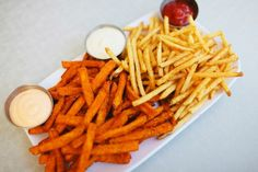 The BEST Fries We've Ever Tasted...No Ketchup Needed!  #Refinery29The Fifty-Fifty, $4.95, at The Counter