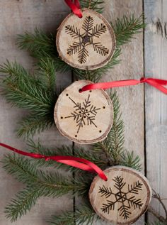 DIY Etched Snowflake Ornaments (via Design Mom)