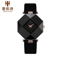 US $68.99 - HOLUNS Luxury FOREVER SERIES Women Genuine Leather Strap Waterproof Quartz Watch Female Wristwatches With Original Gift Package