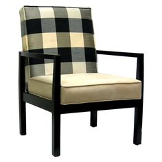 Algonquin Accent Chair - so fun! love the buffalo check! via Joss and Main. Morning room