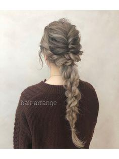 大人っぽいロープ編み下ろしアレンジ♪担当中間 Dreadlocks, Hair Styles, Beauty, Hair Plait Styles, Hair Makeup, Hairdos, Haircut Styles, Dreads, Hair Cuts