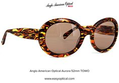Anglo American Optical Aurora 52mm TOWO Aurora, Round Sunglasses, American, Style, Swag, Round Frame Sunglasses, Northern Lights, Outfits